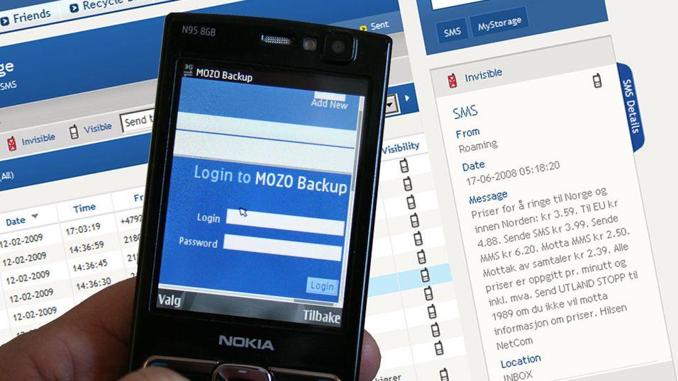 TEST: Test: Mozo Backup - Styr mobilen via internett