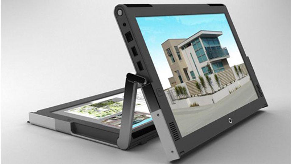 Bærbar med to skjermer et skritt nærmere