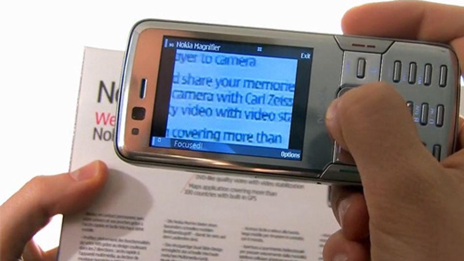 Les den lille skrifta med mobilen