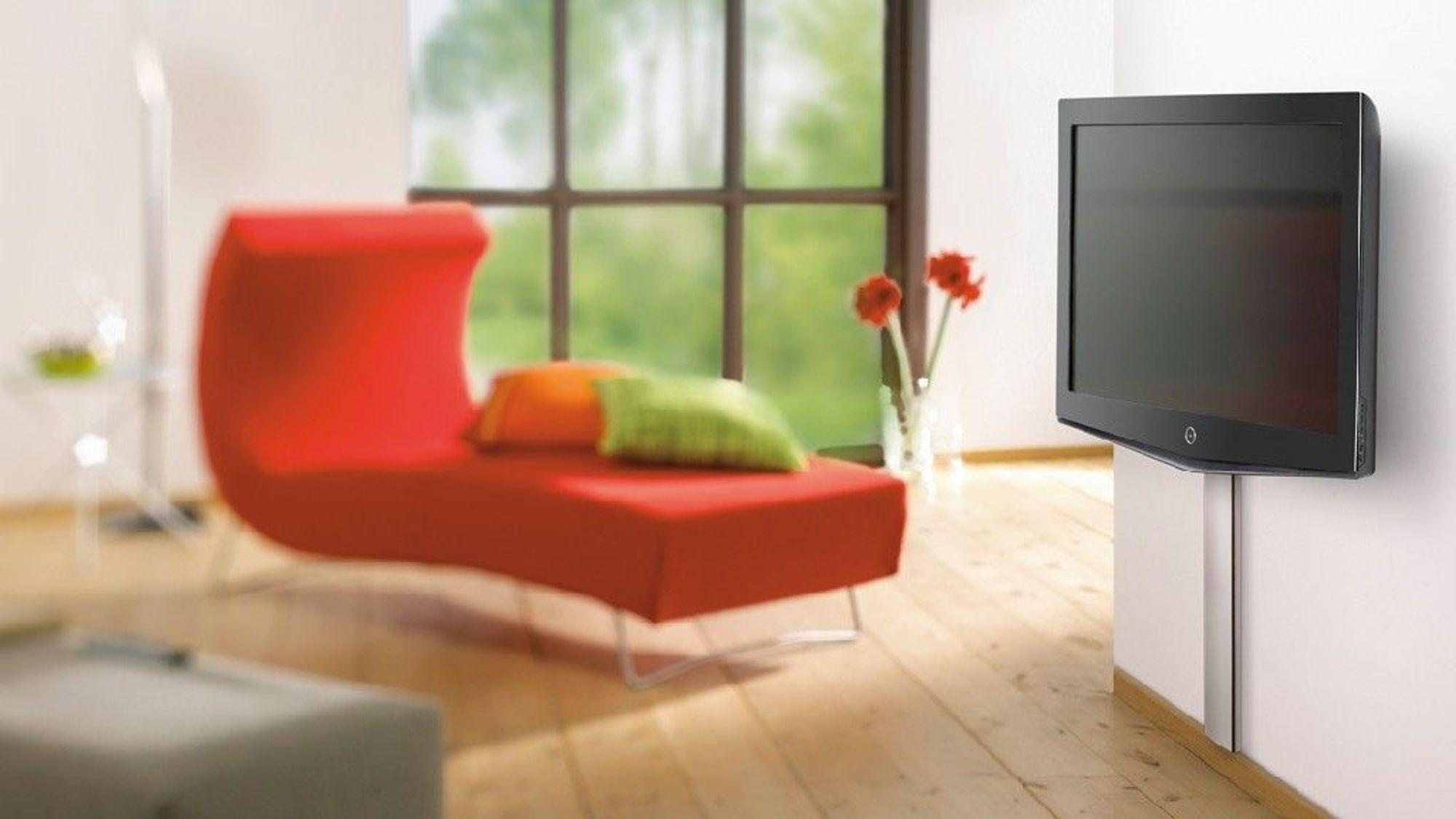: TV-skolen: veggfester og TV-bord F? flatskjermen opp p? veggen ...