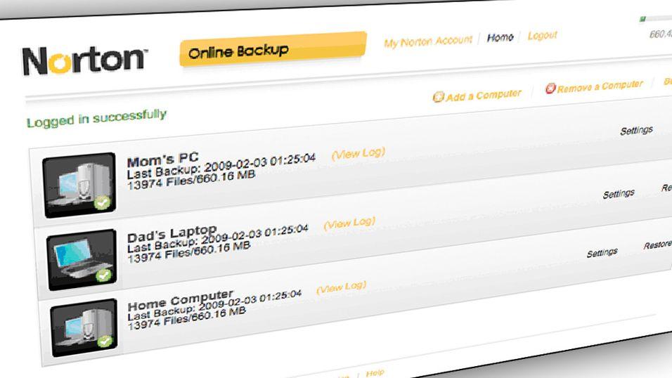 Symantec sikrer dine filer