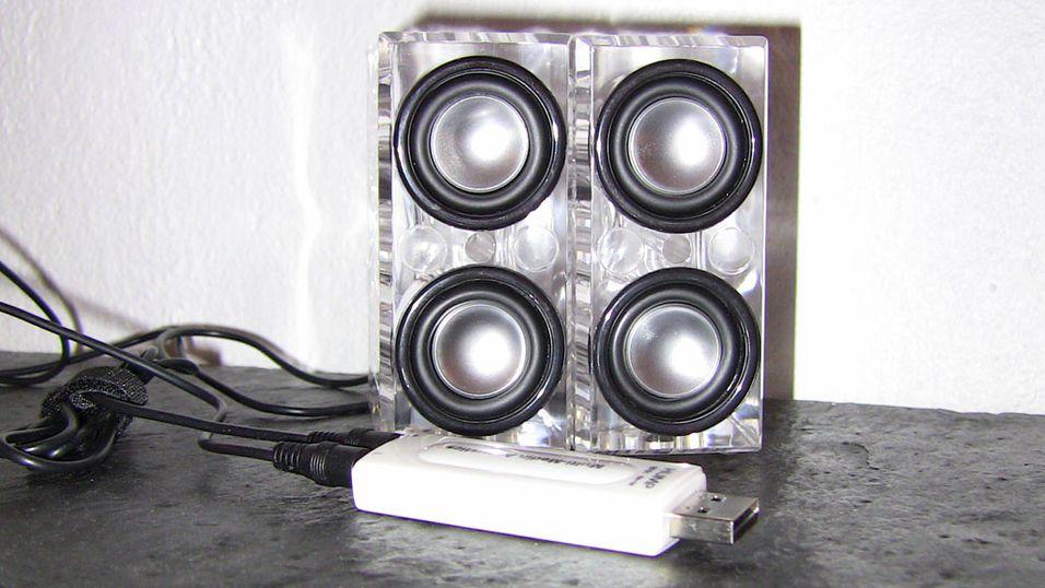 TEST: Test: Unique Crystal HiFi USB Speakers
