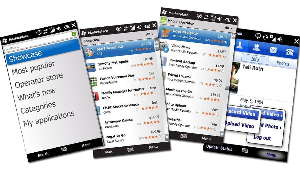Slik ser Microsofts Mobile Marketplace ut
