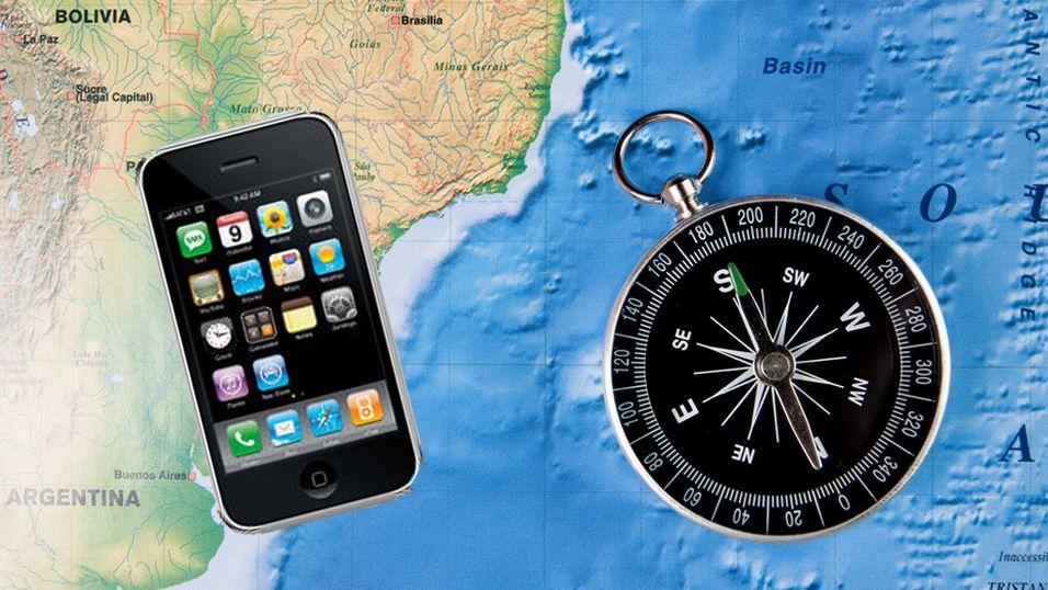 Kompass på Iphone