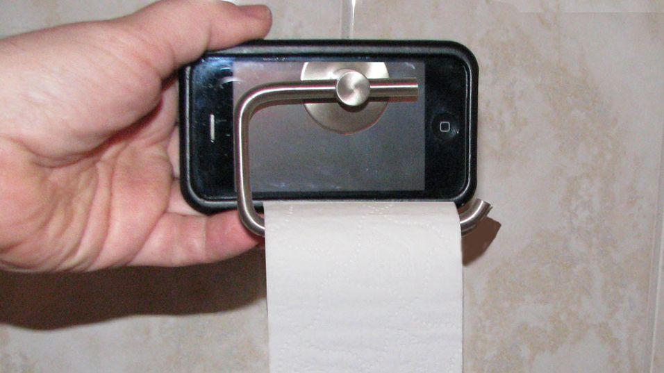 Tørk deg bak med Iphone