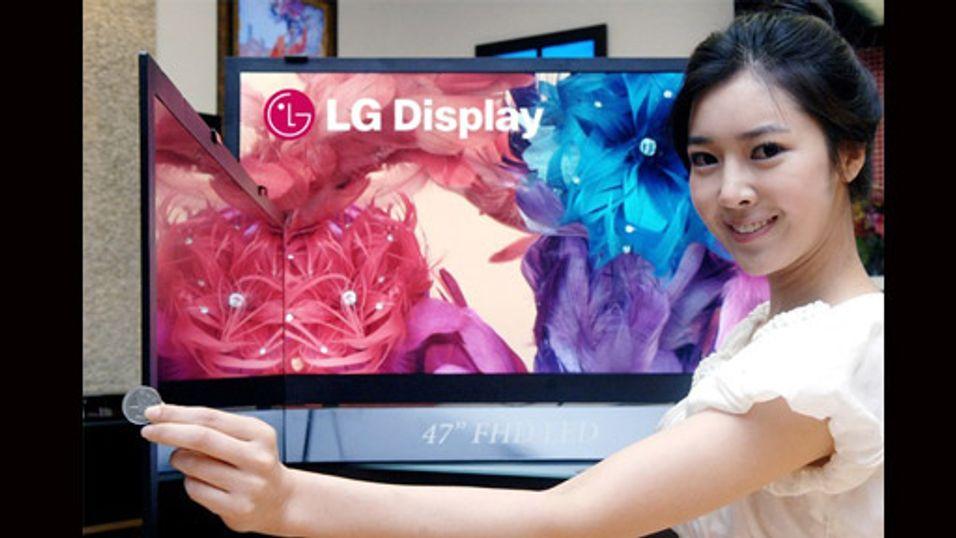 Verdens tynneste LCD