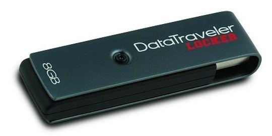 Kingstons DataTraveler Locker har innebygd kryptering.