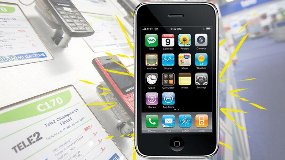 Historisk lav pris på iPhone i Norge