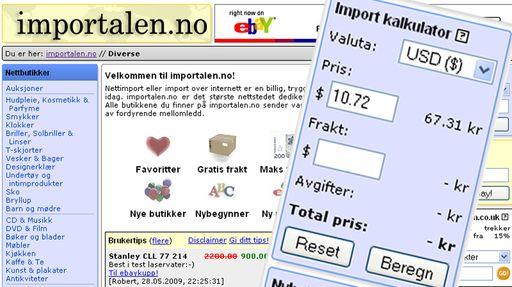 Engelske nettbutikker som sender til norge