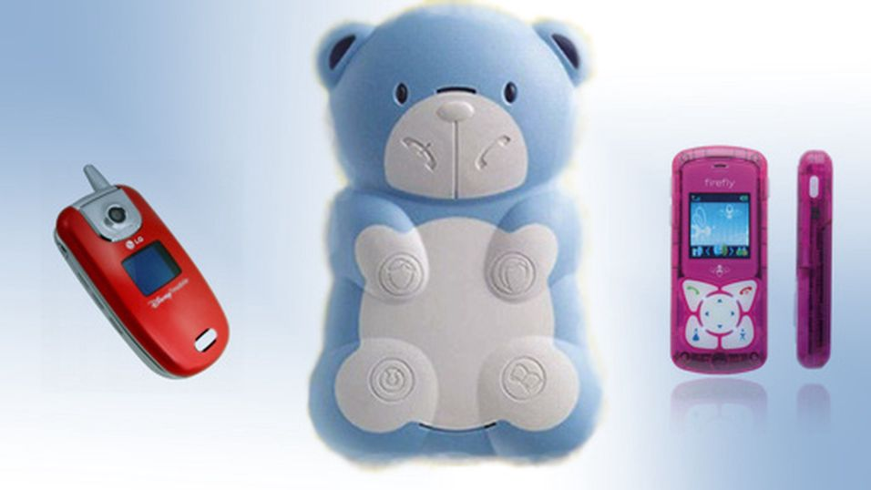 Teddybjørntelefon for minstemann