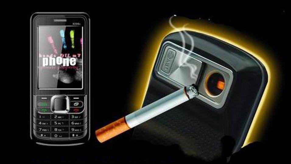 Få fyr med sigarettmobilen