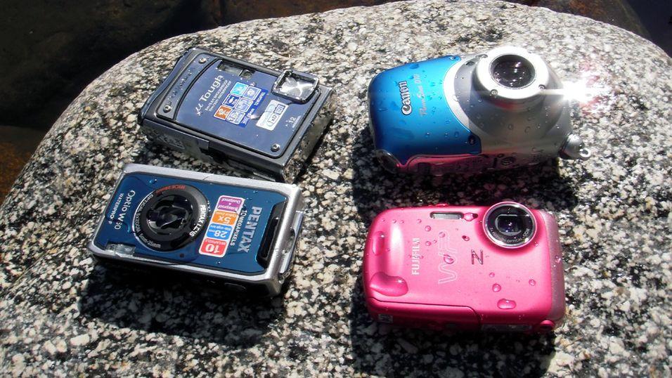 TEST: Vi tester kameraene som tåler vann
