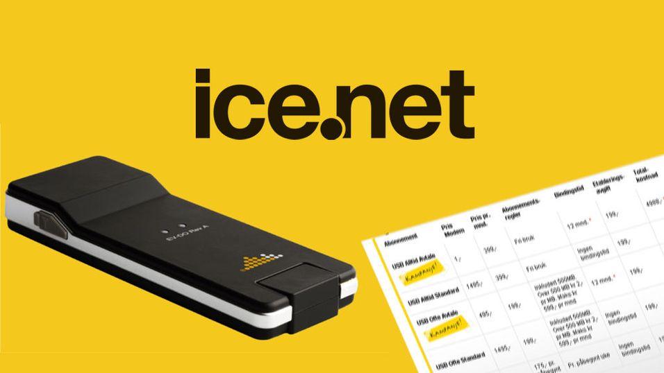 Billigere for Ice.net-kunder