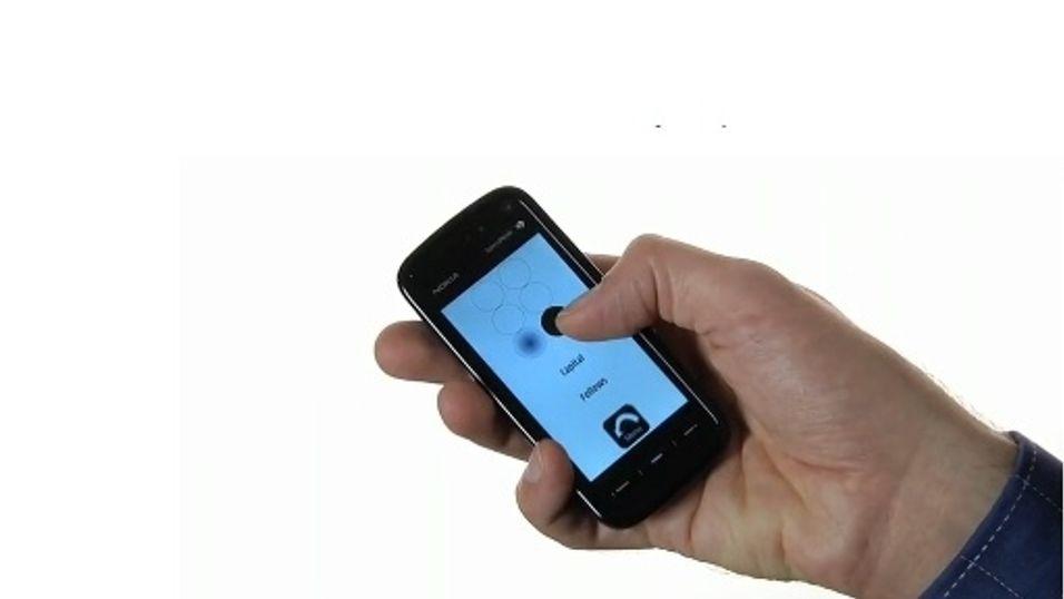Blindeskrift på mobilen