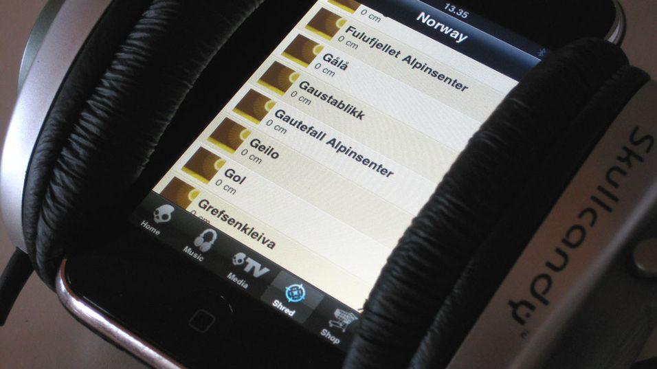 Skullcandy med iPhone-applikasjon