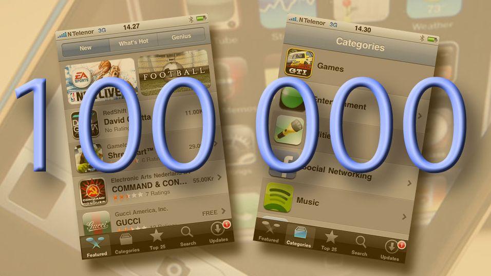 Mer enn 100 000 iPhone-applikasjoner