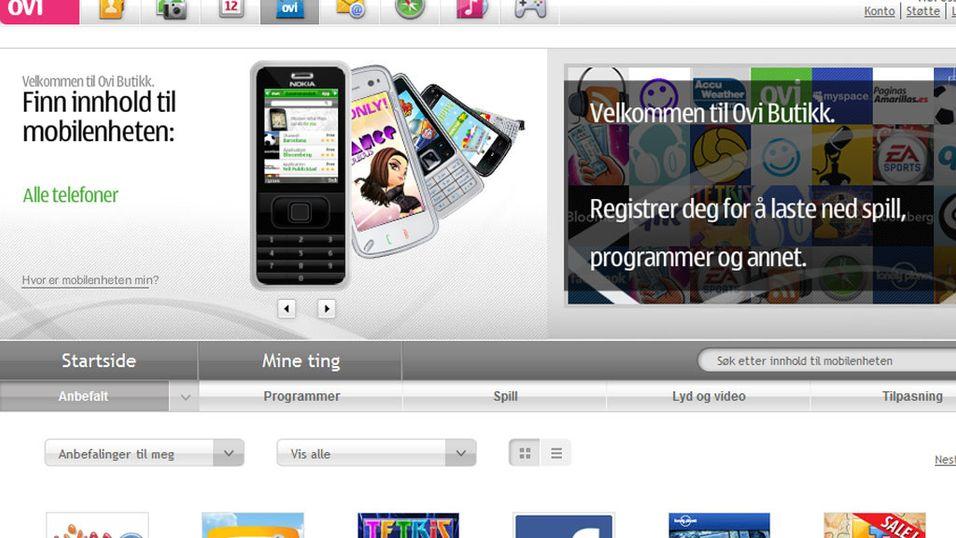 Nokias Ovi Store i norsk drakt