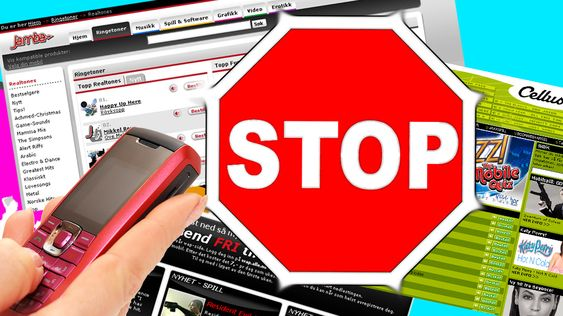 For å stoppe en løpende innholdstjeneste skal det holde å sende STOPP til nummeret du får meldingene fra.