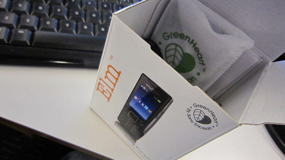 Sony Ericsson Elm ute av esken