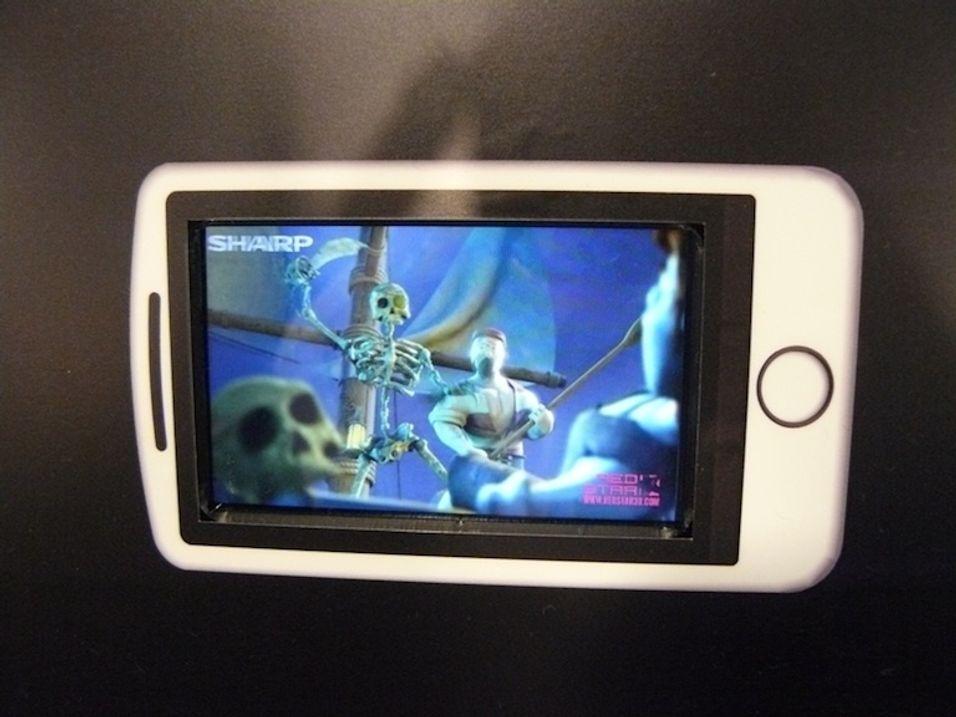 3D mobilskjerm fra Sharp