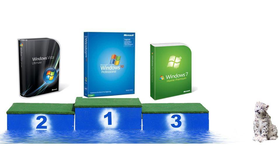 Windows 7 går så det griner