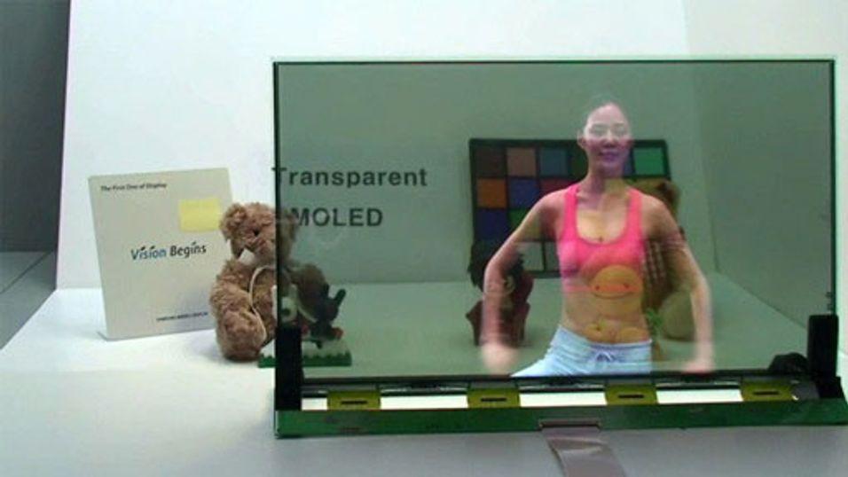 Den første gjennomsiktige TV-en