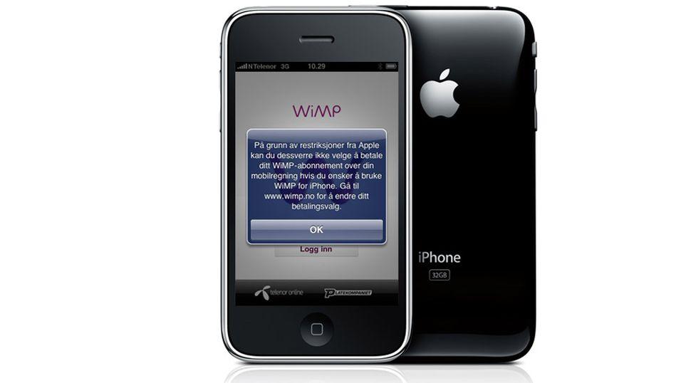 Nå får du WiMP på iPhone