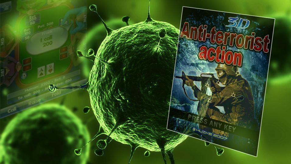 Hacket terrorist-spill sprer virus