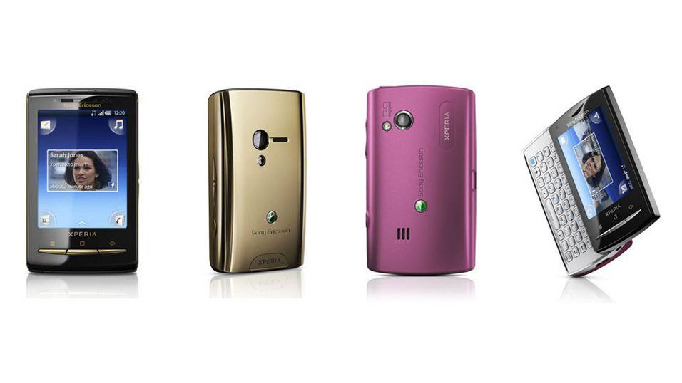 X10 mini i gull og rosa