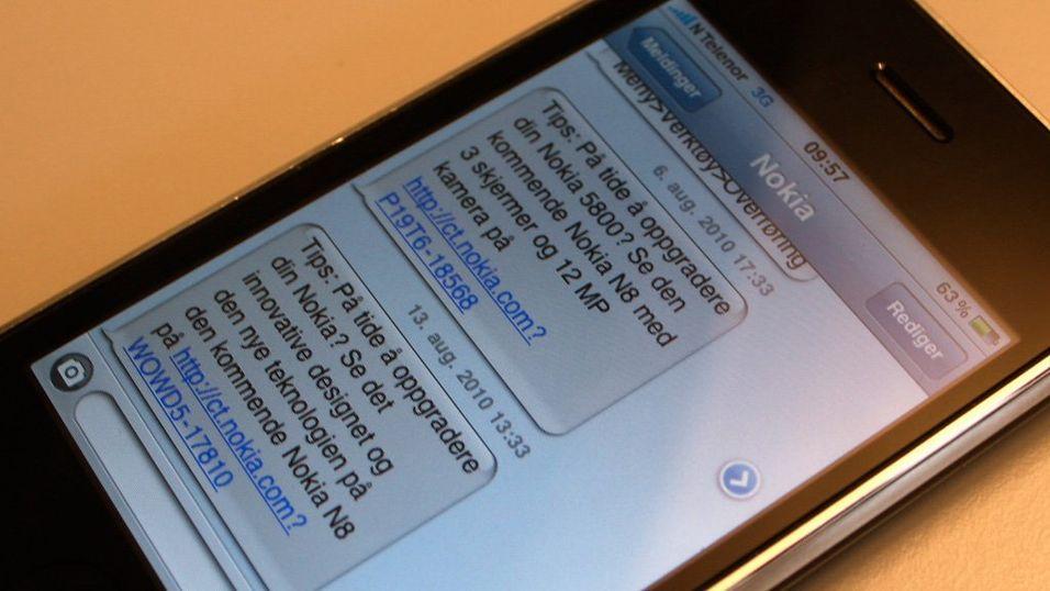 Får du irriterende SMS fra Nokia?
