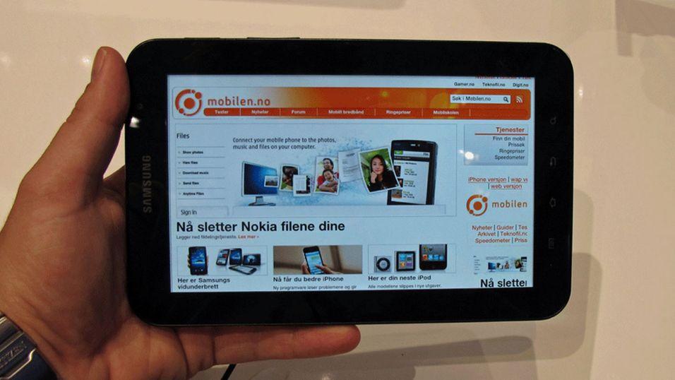 SNIKTITT: Samsung Galaxy Tab