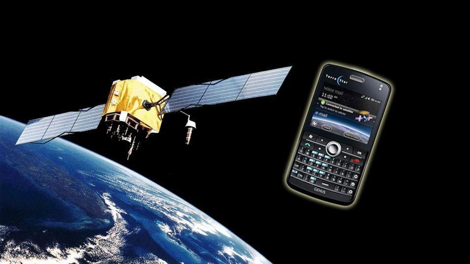 Knøttliten satellitt-mobil
