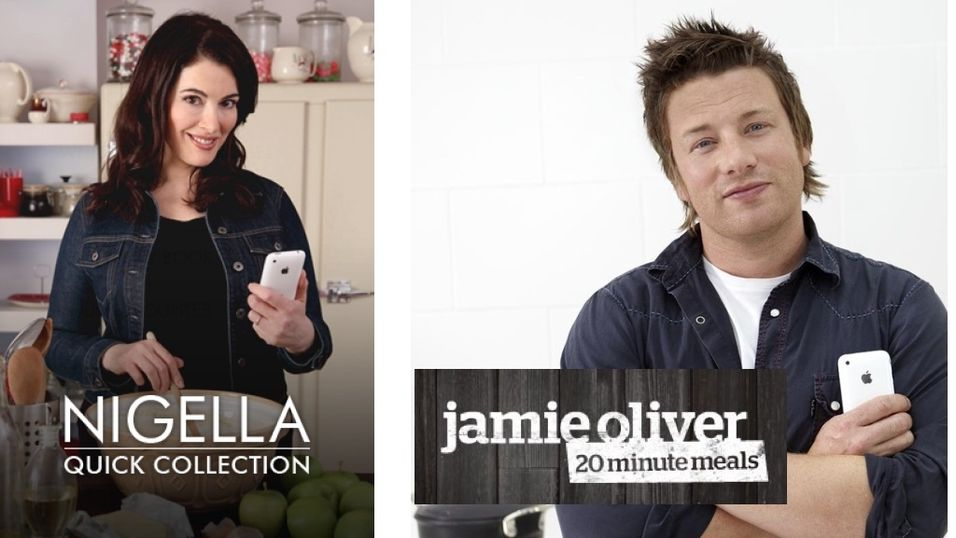 IPHONE-DUELL: Jamie vs Nigella
