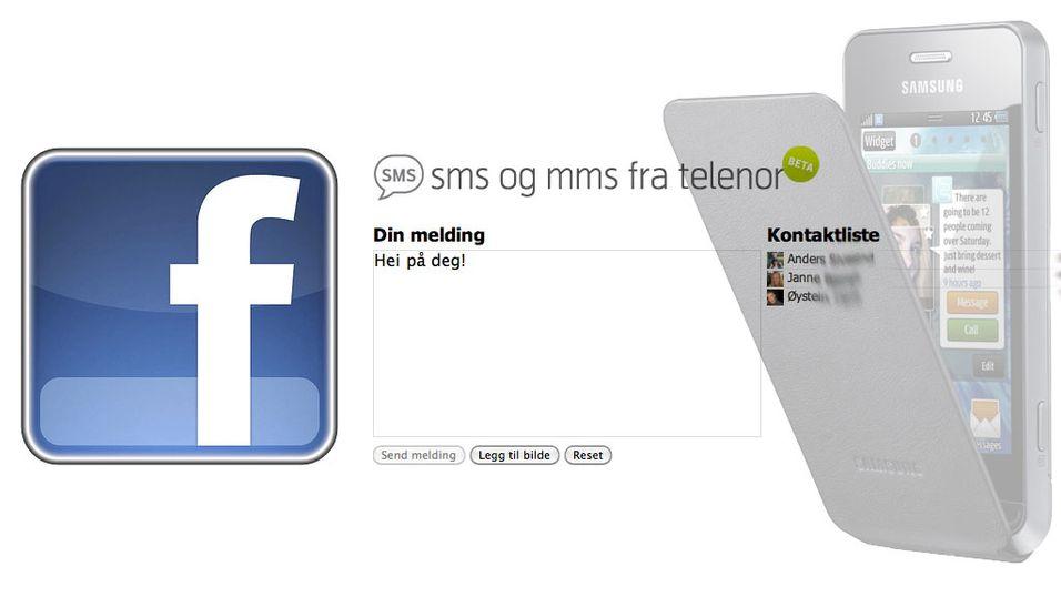 Send SMS fra Facebook