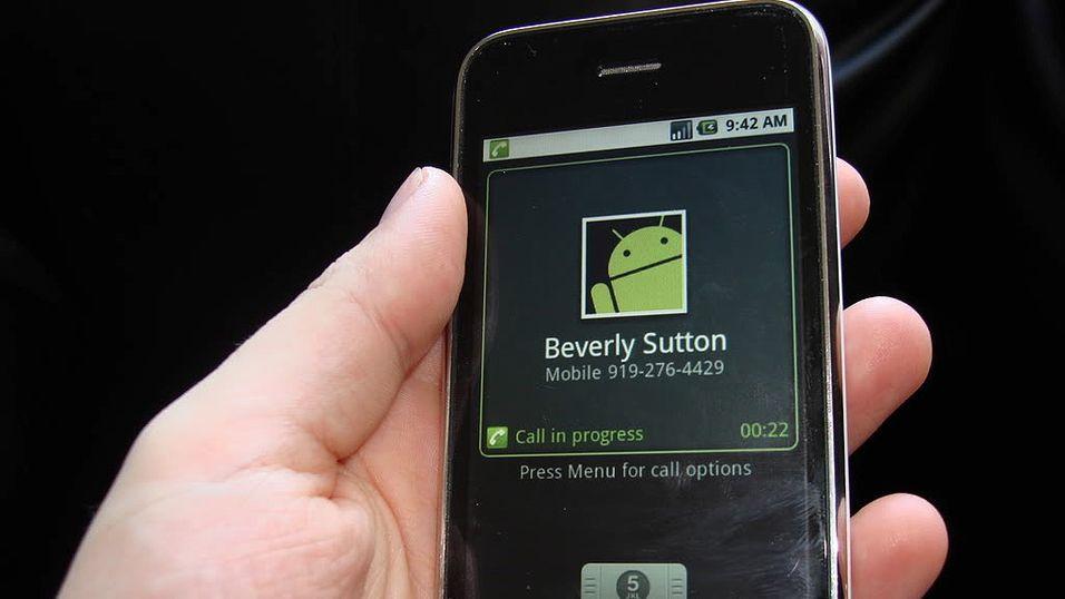 Se, en iPhone som kjører Android