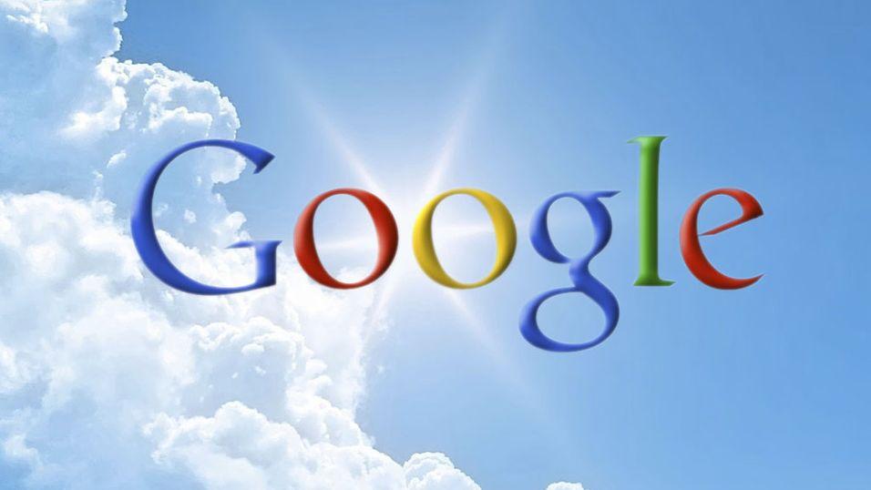 Google lagrer i nettskyen