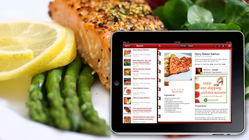 Slik lager du mat med iPad