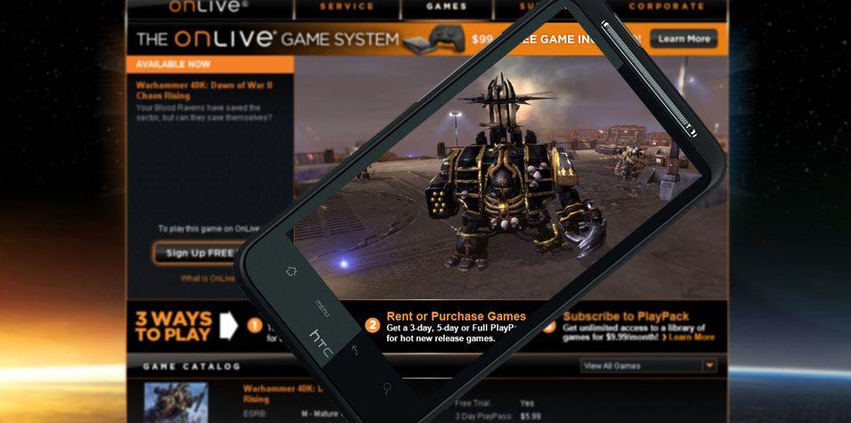 HTCs spillsatsing gikk på grunn da OnLive gikk tom for penger og måtte restrukturere.