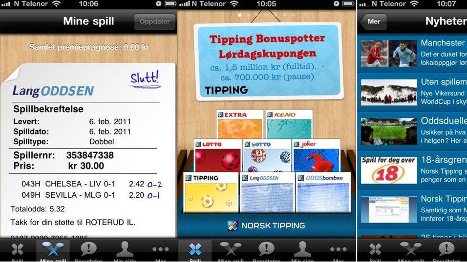 Norsk Tipping er i App Store