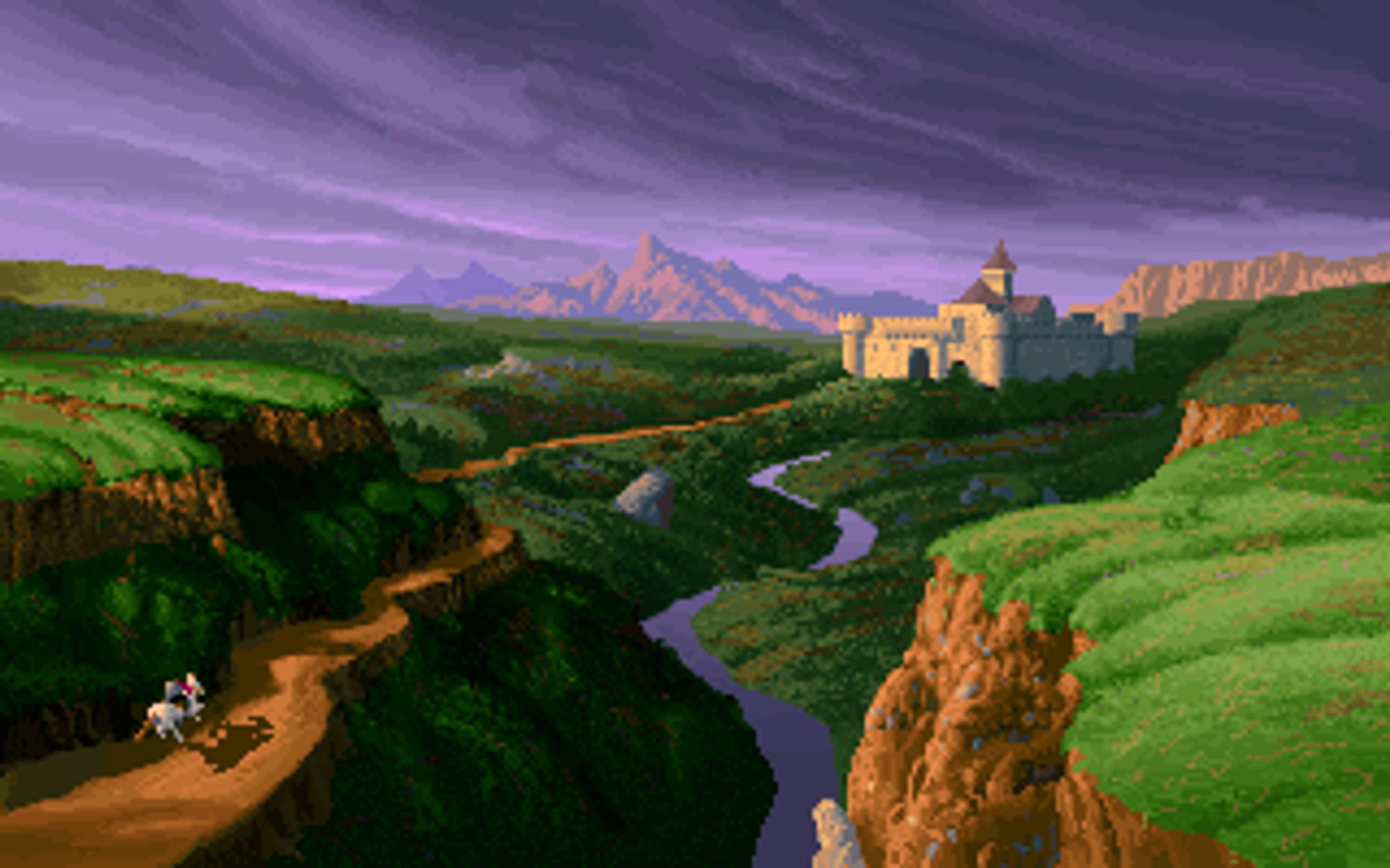 Introduksjonssekvensen til Lands of Lore.