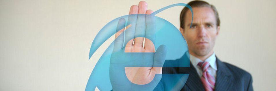 Internet Explorer mister grepet på markedet