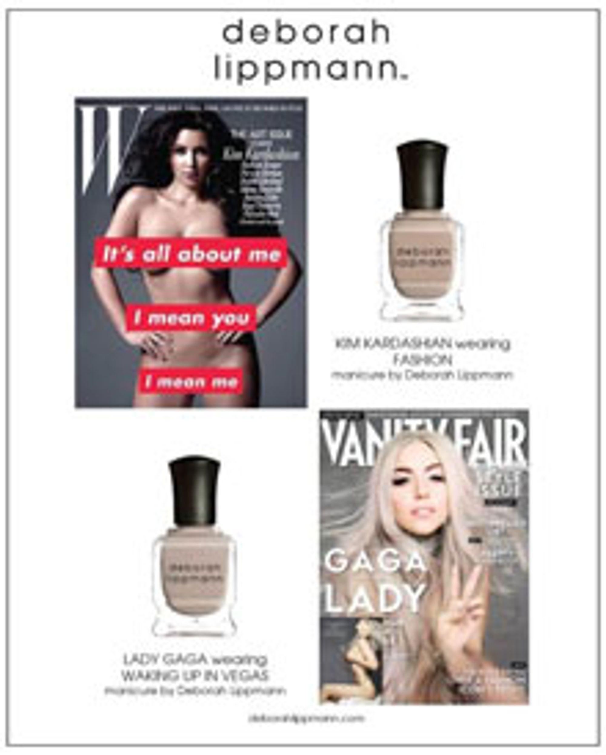 Kim Kardashian og Lady Gaga er blant frontfigurene for Lippmanns neglelakk.