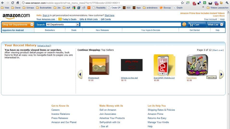 – Amazon lager applikasjonsbutikk