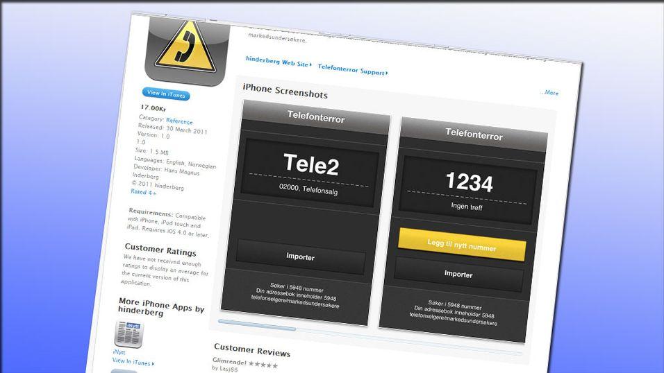 App mot telefonselgere