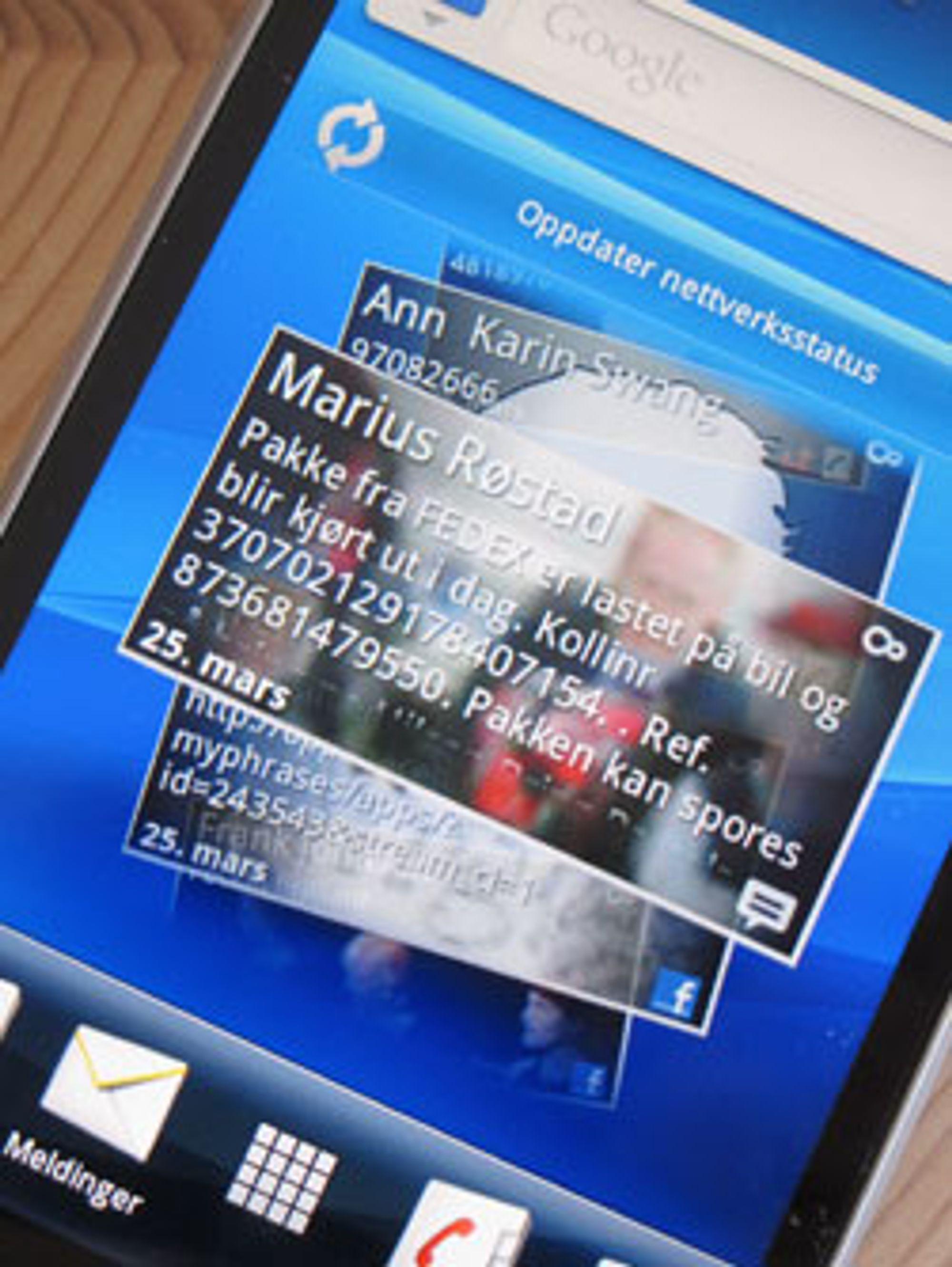Sony Ericsson har beholdt Timescape, men Mediascape finnes ikke på Xperia Arc.