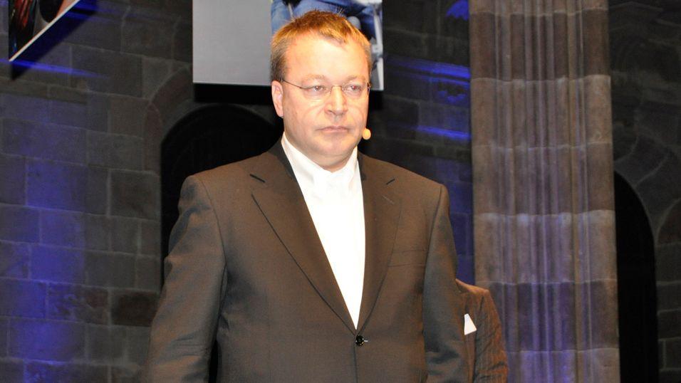 Allerede på Mobile World Congress i februar varslet Nokia-sjef Stephen Elop at selskapet ville måtte omstrukturere. (Foto: Finn Jarle Kvalheim)