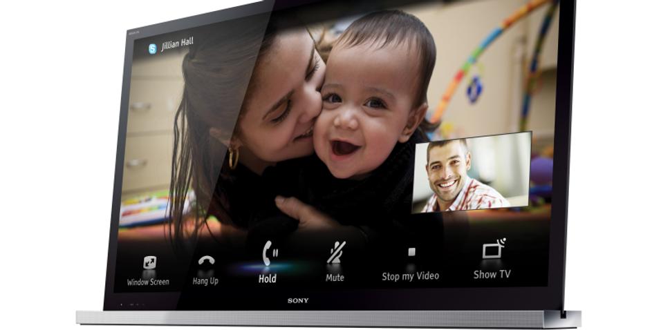 Bruk Skype på Sony-TV-en