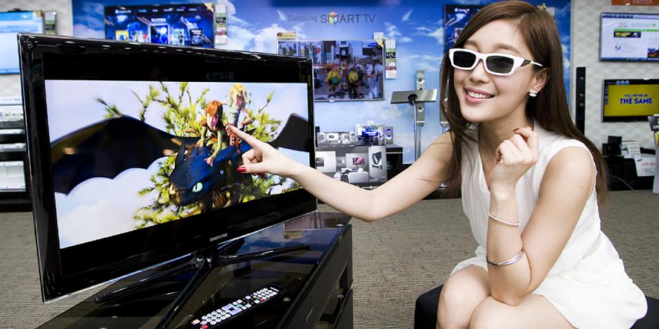 Liten 3D-smart-TV fra Samsung