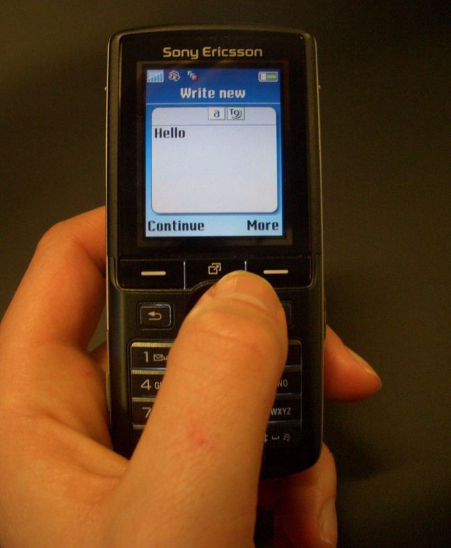 Verdens raskeste SMS