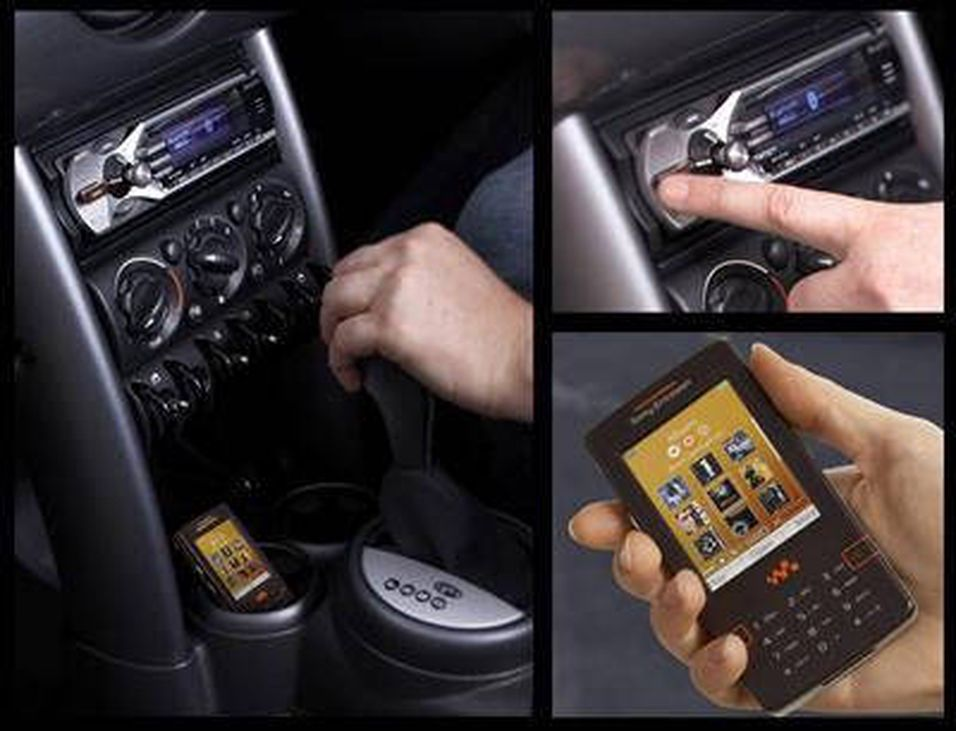 Sony med bilstereo for musikkmobilen